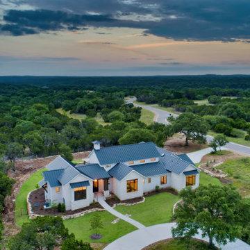 Modern Farmhouse Aerial View