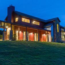 Farmhouse Exterior by Barron Custom Design, LLC