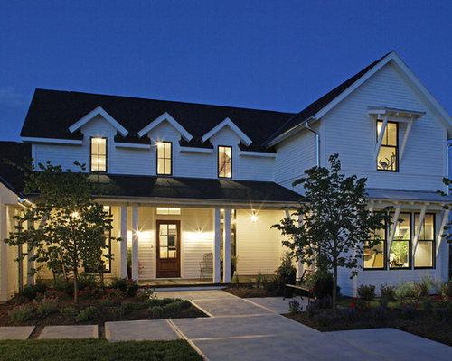 Ideas para fachadas dise os de fachadas con tejado a dos for Tejados madera blanca
