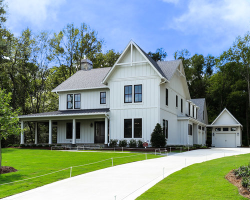 Modern farmhouse houzz for Modern farmhouse exterior
