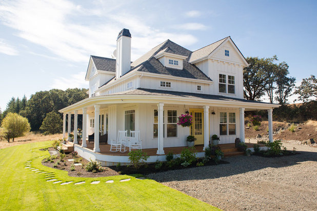 Farmhouse Exterior by Winsome Construction