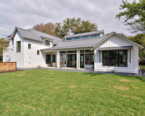 Metal Roof White House Houzz