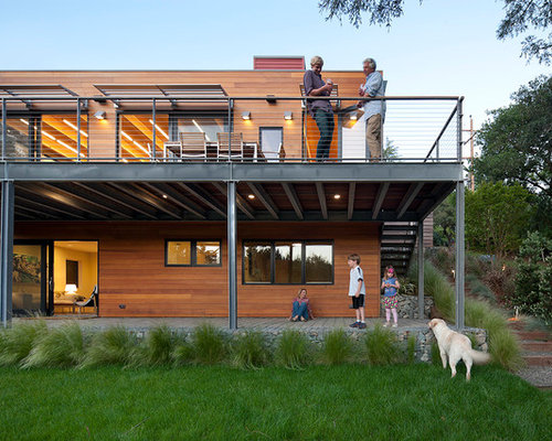 inspiration for a contemporary exterior in san francisco with wood