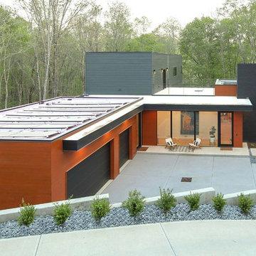 Modern Hillside Custom Home in Chapel Hill, NC