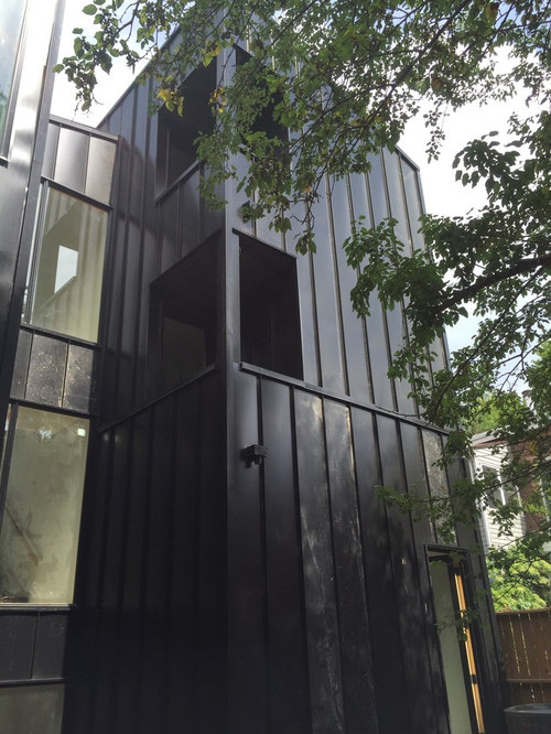 modern home exterior metal siding wood siding copper