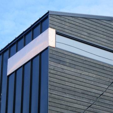 Modern Home Exterior Metal Siding, Wood Siding & Copper