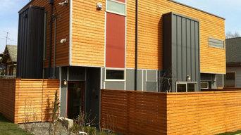 Modern House Exterior Cedar & Hardie