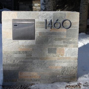 modern house numbers - customer photo