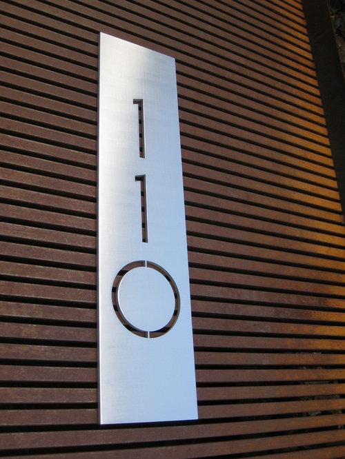 Number Plaque Home Design Ideas Renovations Photos
