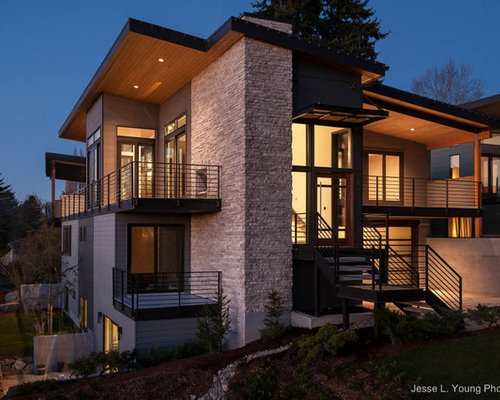 inspiration for a contemporary exterior home remodel in seattle