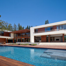 Contemporary Exterior by Lencioni Construction