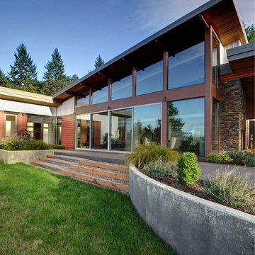Modern Portland New Construction - Outdoor Steps