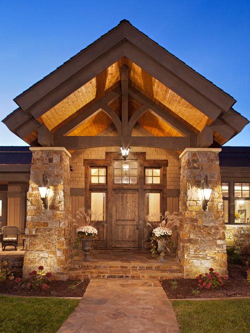 Foto e idee per facciate di case facciata di una casa for Piani di casa ranch unici