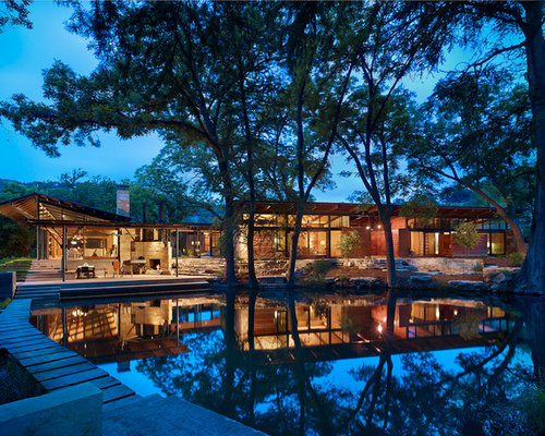 Modern texas country ranch home design ideas pictures - Ranch americain poet interiors houston ...