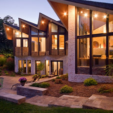 Contemporary Exterior by Rebecca Elliott Interior Design, LLC