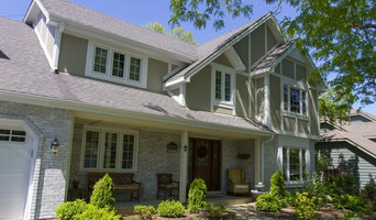 Modern Timber Frame styling with Hardie Stucco panels & trim