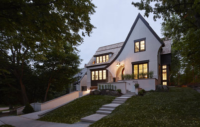 Houzz Tour: Tudor-Inspired Outside, Open and Contemporary Inside