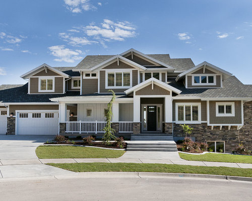 Woodstock brown houzz for Craftsman style homes dfw