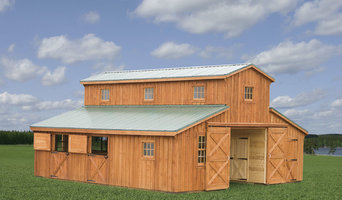 Monitor Horse Barn with Center Aisle