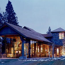 Rustic Exterior by CCY Architects