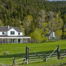 Traditional Exterior Montana Farmhouse