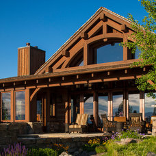 Rustic Exterior by shannon callaghan interior design