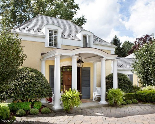 Transitional French Country Exterior Design Ideas Pictures Remodel Decor