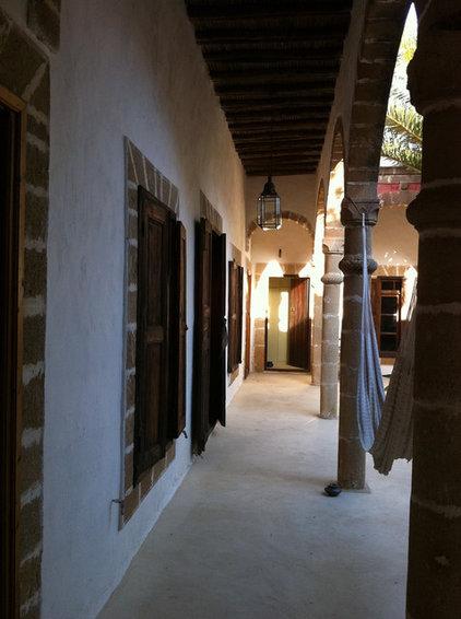 Mediterranean Exterior Moroccan Riad Courtyard