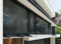 what is the louvered product on the exterior?