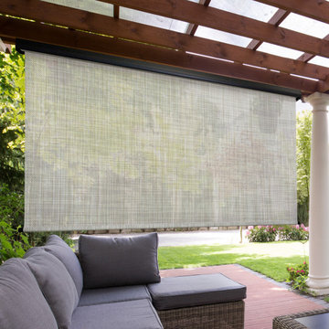 Motorized Outdoor Sun Shades (PVC - PVC Coated Polyester Fabric)
