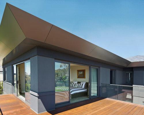Modern Metal Hip Roof Home Design Ideas Remodels Photos