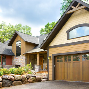 Inspiration for a timeless mixed siding exterior home remodel in Minneapolis