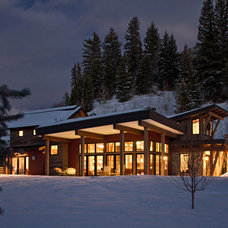 Rustic Exterior by Charlie Dresen, SteamboatsMyHome