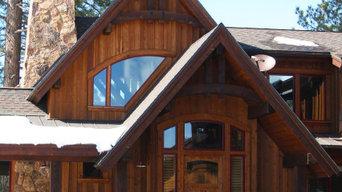 Mountain Custom Home on Golf Course Main Entry