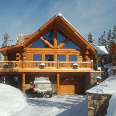 Traditional Exterior by Mountain Log Homes & Interiors