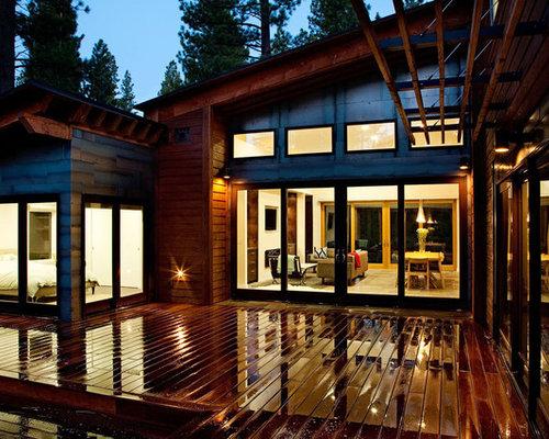 Contemporary Wood Exterior Home Idea In Sacramento
