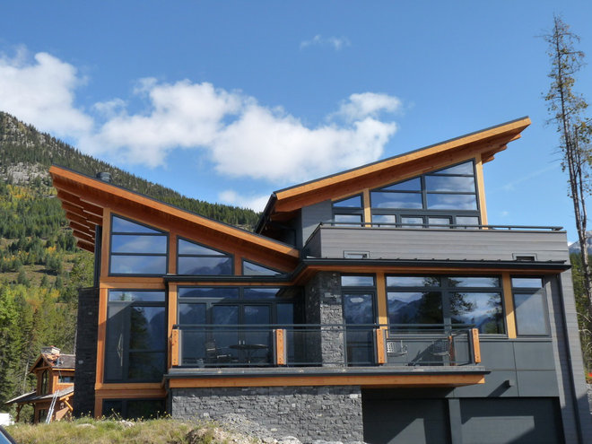 Rustic Exterior by Gaulhofer Windows