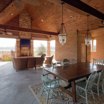 "Mountain Stone Tudor Brick & Arriscraft ""Cafe"" Stone Home - Tennessee"