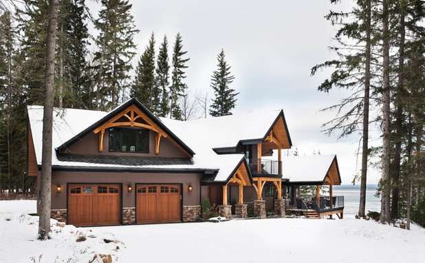 Rustic Exterior by Riverbend Timber Framing