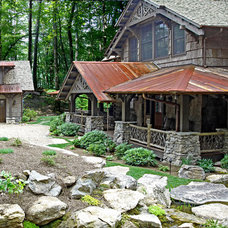 Rustic Exterior by Appalachian Antique Hardwoods