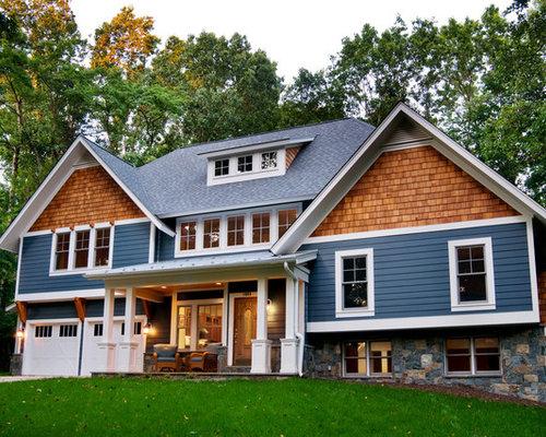 Cedar shake siding houzz for Cedar shingle house
