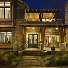 Transitional Exterior by Cornerstone Architects