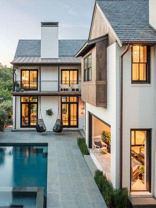 Best Transitional Brick Exterior Home Design Ideas & Remodel