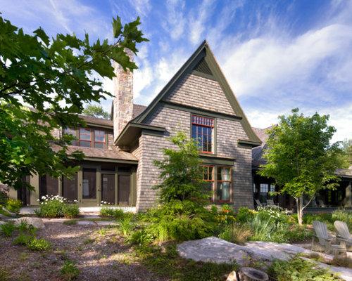 Foto e idee per facciate di case facciata di una casa al for Piani casa ontario