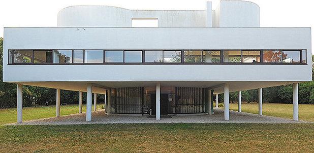 Villa Savoye Front Elevation : サヴォア邸:モダニズム建築の傑作住宅 houzz ハウズ