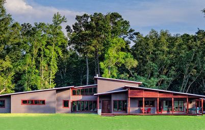 Houzz Tour: Earthiness Grounds a Contemporary Louisiana Home