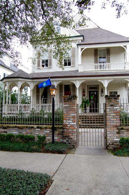 traditional exterior by Corynne Pless