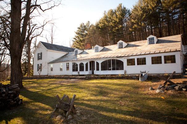 Farmhouse Exterior by Tess Fine