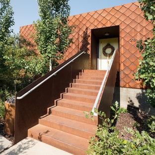 Contemporary exterior home idea in Salt Lake City