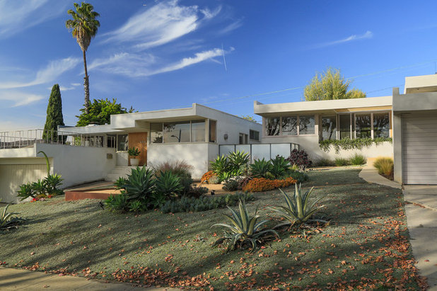 Midcentury Exterior My Houzz: They're Right at Home in Their Schindler House